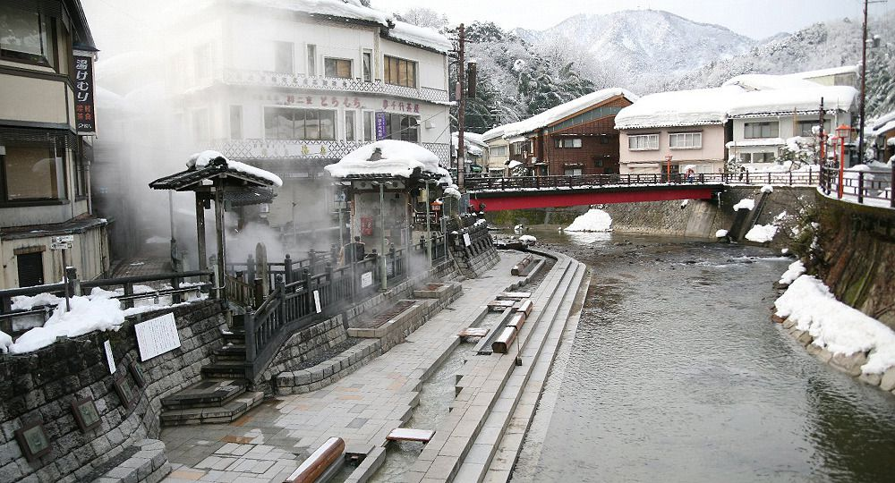 Abundant waters and welcoming steam : Yumura Onsen